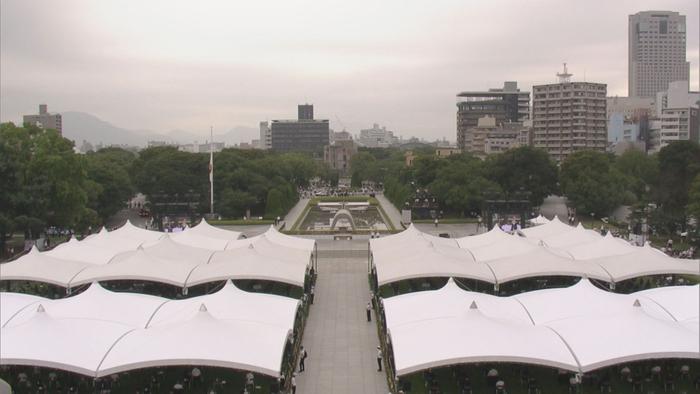 昨年の平和記念式典の様子