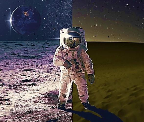 月面と鳥取砂丘(イメージ)
