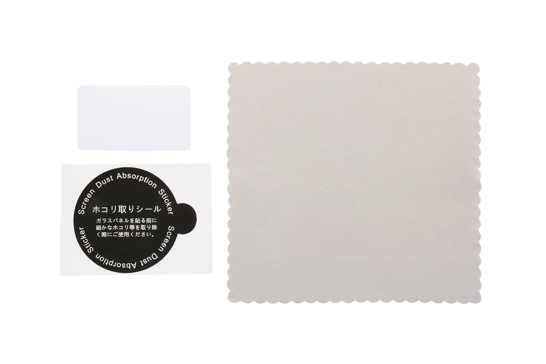 画面保護フィルム「OWL-PFIB7901」には、画面クリーナー、ほこり除去シール、貼り付け用ヘラが付属します