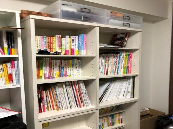 大阪北部地震後の著者宅の本棚