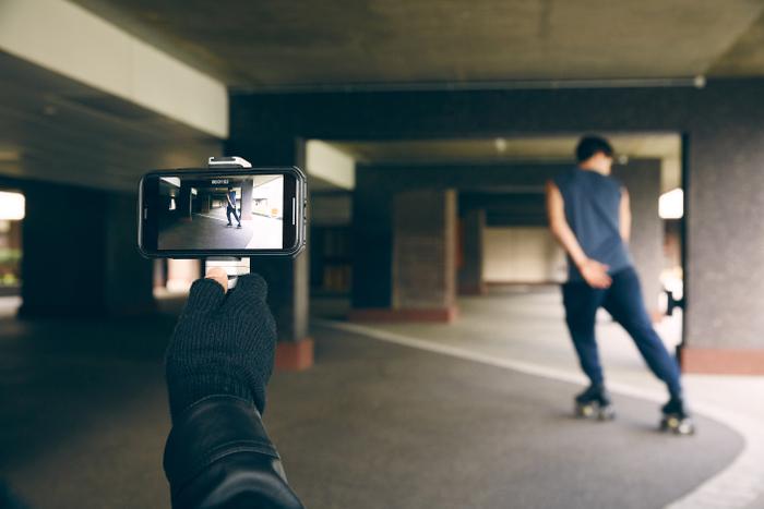 ビデオ撮影に最適、ハンドグリップモード