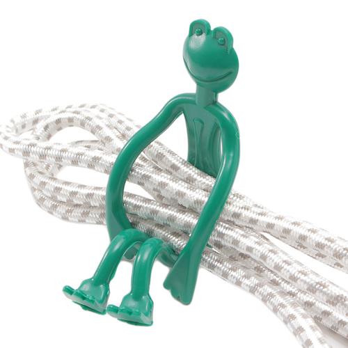 「結束バンド Frog」ぐにゃぐにゃと好きな形に体を動かすことができる結束バンドです。
