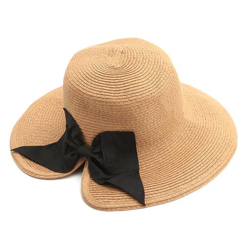 「ハット Ribbon BR」価格:1,408円/バックリボンのツバ広ハット。背面にカットが入っているので、髪を束ねてもシルエットを保て、綺麗にかぶれます。