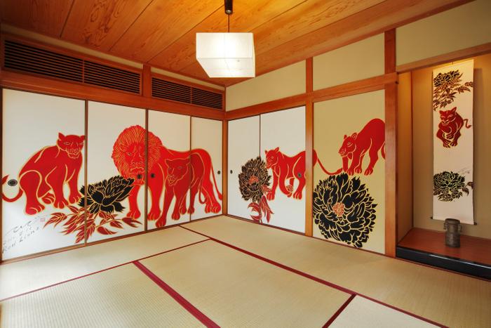 京都の壁画絵師・木村英輝氏が手がけた襖絵