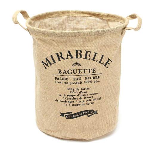 「ジュートランドリーバスケット Baguette」価格:649円/サイズ:W27×D27×H34cm