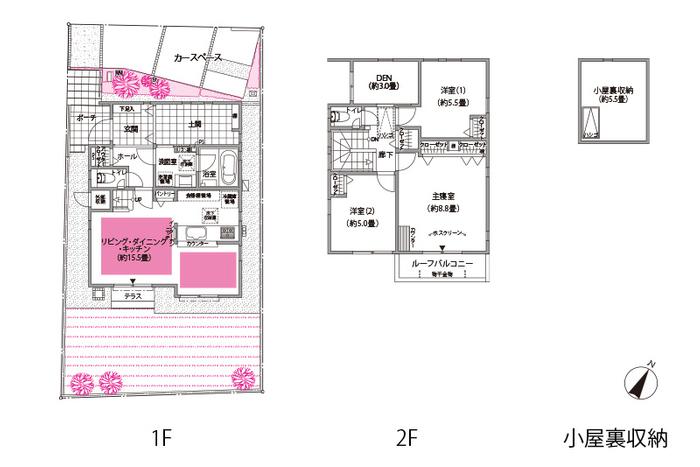 2号棟 土間付きの「趣味を存分に楽しむ家」(イメージ)