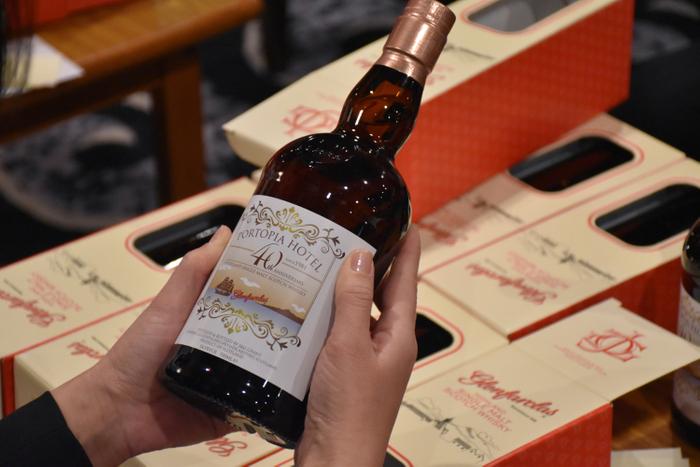 「ポートピアホテル開業40年記念ウイスキー」ラベル