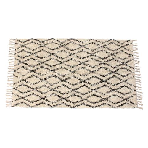 「フロアラグ Shaggy Rhombus」価格:2,980円/サイズ:W150×H90cm