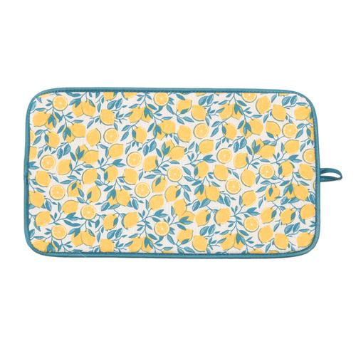 「ドライングマット M Lemon」価格:290円/サイズ:W40×D23cm/爽やかなレモン柄のドライングマット。