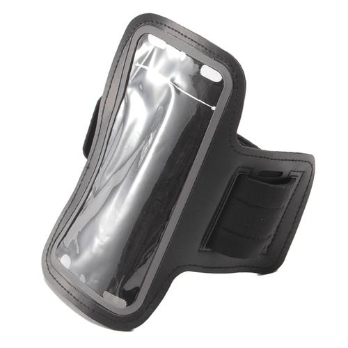 「モバイル アームバンド BK」価格:390円/サイズ:約W57.5×H17.2cm/スマートフォンが入れられるケース。