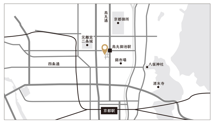 「THE HIRAMATSU 京都」烏丸御池駅より徒歩3分