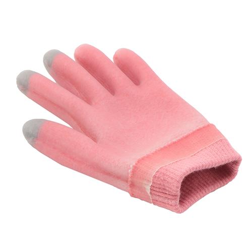 「ジェルグローブ」内側のジェルが乾燥から肌を守る機能付き手袋。お休みの際にくつろげるラベンダーの香りです。