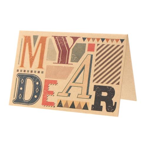 「メッセージカード Thank You」プレゼントに添えられる2つ折り1枚入りのメッセージカード。