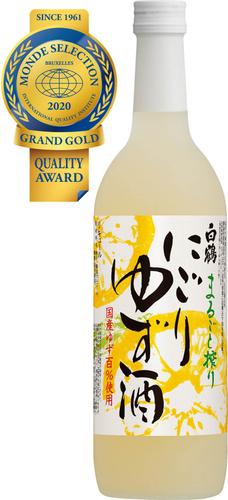 白鶴 まるごと搾り にごりゆず酒 720ml