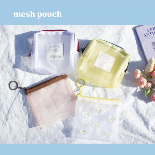 箱型メッシュポーチ 2種/メッシュポーチ 2種