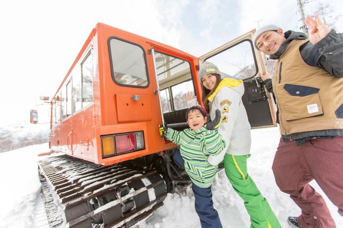 雪上車でアドベンチャー!