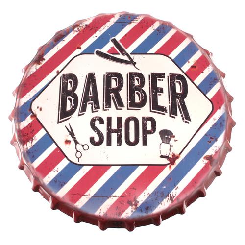 「スチールテーブル Barber Shop」天板デザイン