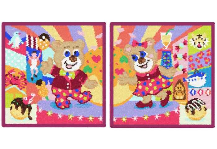 (左)天王寺ミオ店限定『マンザイテディボーイ』 (右)大阪ルクアイーレ店限定『マンザイテディガール』