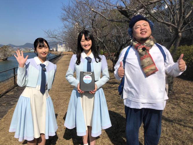 (左から)沖侑果(STU48)・信濃宙花(STU48)・HIPPY