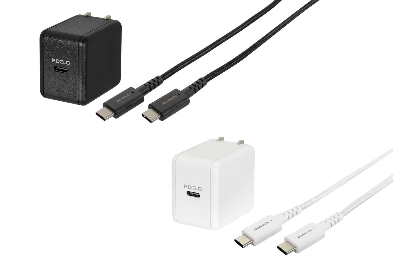 USB PD対応の充電器OWL-APD18KCC15は、ブラックとホワイトの2色展開です