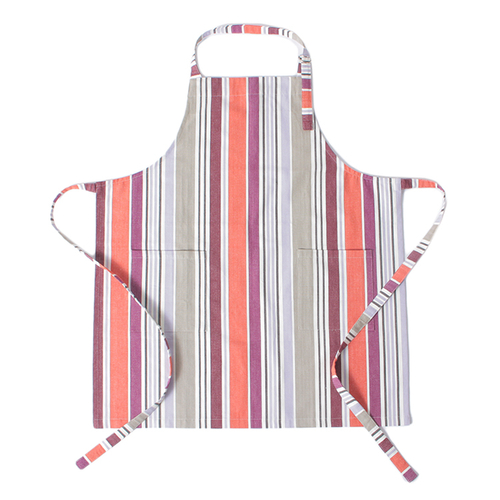 「エプロン Multi Stripe PUOR」価格:890円/サイズ:W70×H80cm