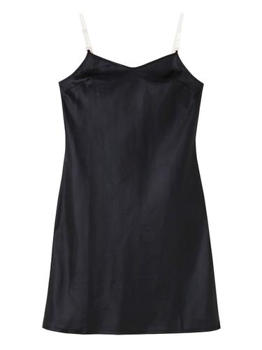 THE CLEAR STRAP INNER DRESS BLACK