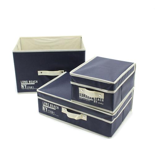 「マルチボックス NY Beach S/M/L」価格:390~490円/一般的なカラーボックスサイズに対応したマルチ収納ボックスです。