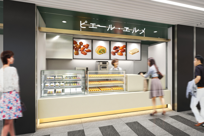 JRと東京メトロの連絡通路に面した店舗