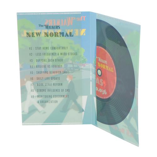「マスクケース New Normal」レコードジャケットをモチーフにnew normalをテーマにしたデザイン。