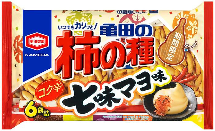 『173g 亀田の柿の種 コク辛七味マヨ味 6袋詰』