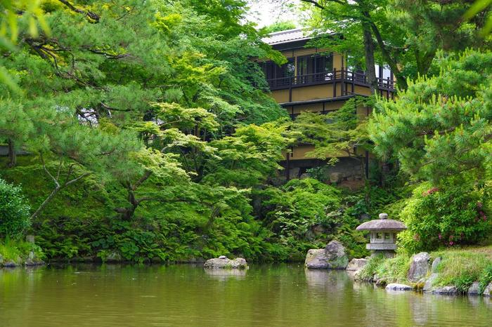 円山公園側から見たeXcafe祇園八坂