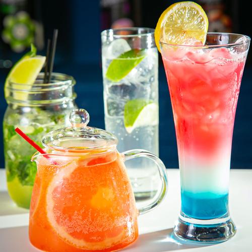 彩り鮮やかなノンアルコールカクテル