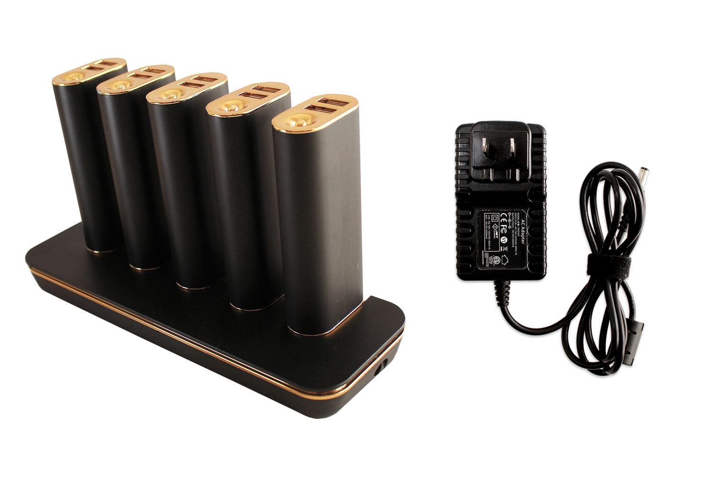 ステーション型充電器には、付属のACアダプターで給電します