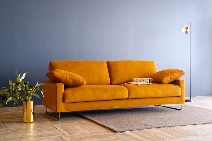 Sofa LEON [3P] :¥428,670  Rug NATURE [10L 140×200cm] : ¥147,840  Floor Lamp AW-0591 : ¥47,575
