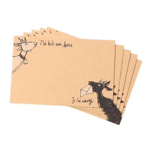 「メッセージカード Goat」価格:50円/5枚入り/メモとしても、寄せ書きとしても使える5枚入りのメッセージカード。