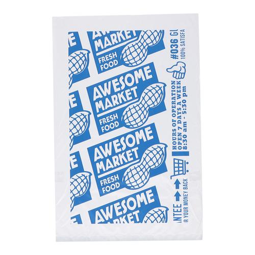 「ポリ袋 30P 」価格:120円/30枚入り/サイズ:W20×H30cm厚さ0.015mm/スーパーマーケットをイメージしたデザインのポリ袋。(Peanuts)