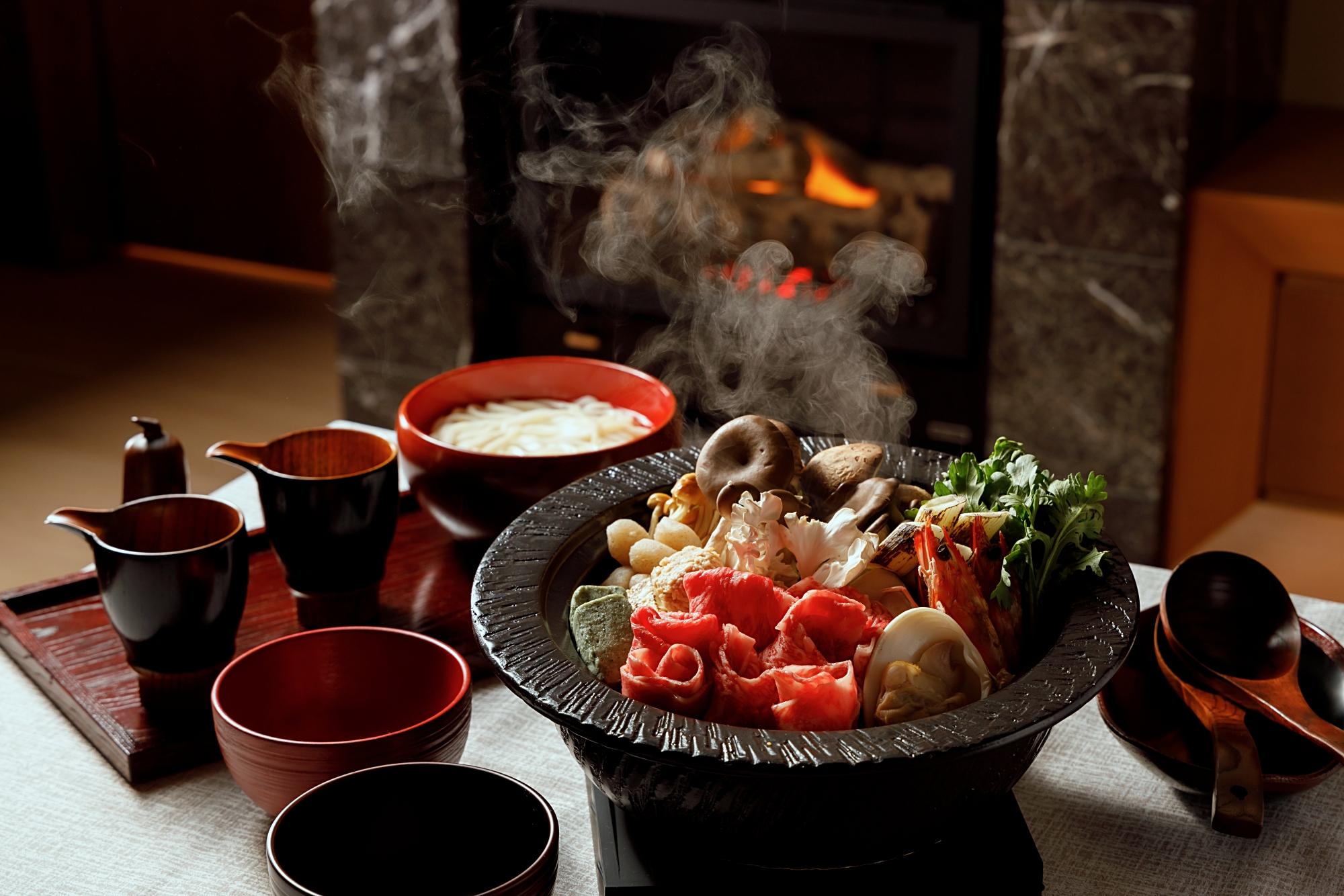 【ひらまつホテル】冬の御代田を堪能する、ヴィラ プライベート・ダイニング「冬ごもり鍋」がはじまります... 画像