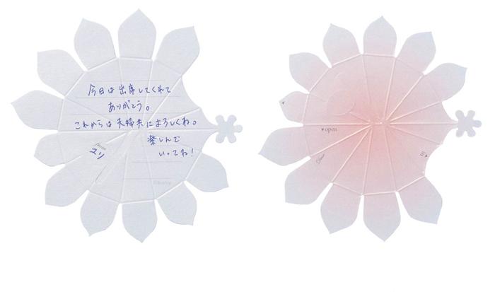 【リプラグ】Hana-kotoba Bouquetの表(記入例)/裏