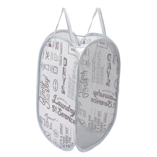 「折り畳みランドリーバスケット Laundry」価格:319円/サイズ:W30×D30×H52cm