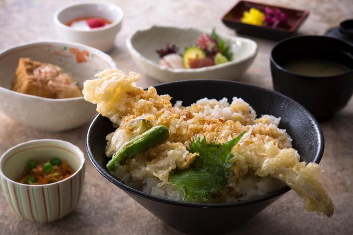 播磨 穴子天丼定食 (ランチ)