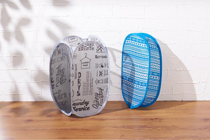 「折り畳みランドリーバスケット(Laundry、Geometry)」