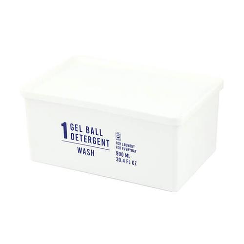 「ジェルボールボックス Half」価格:429円/サイズ:W17×D11×H8cm/容量:約900ml/ジェルボールタイプのハーフサイズ洗剤用詰め替えボックス。