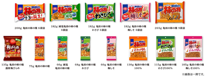※商品裏面の商品名に「亀田の柿の種」と記載がある商品が対象となります。 ※タネビッツも対象となります。
