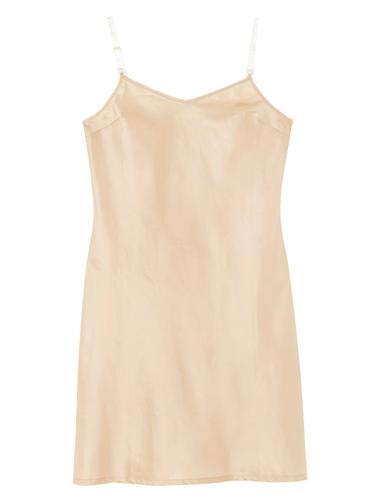 THE CLEAR STRAP INNER DRESS BEIGE