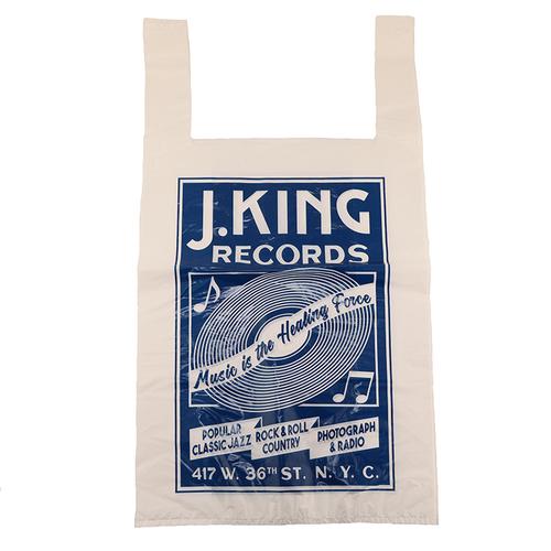 「プラスチックバッグ L 10P Record BL」価格:150円/10枚入り/ニューヨークの老舗レコード店をモチーフにしたデザインです。