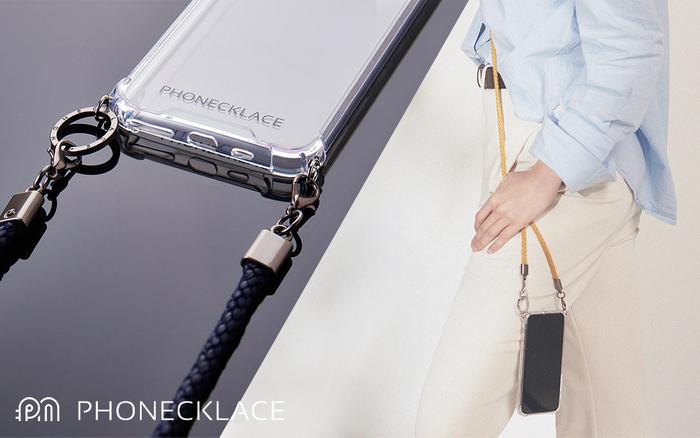 PHONECKLACE ショルダーストラップ付きクリアケース