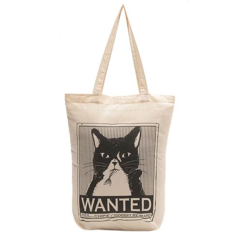 「ショッピングバッグ Wanted」価格:190円