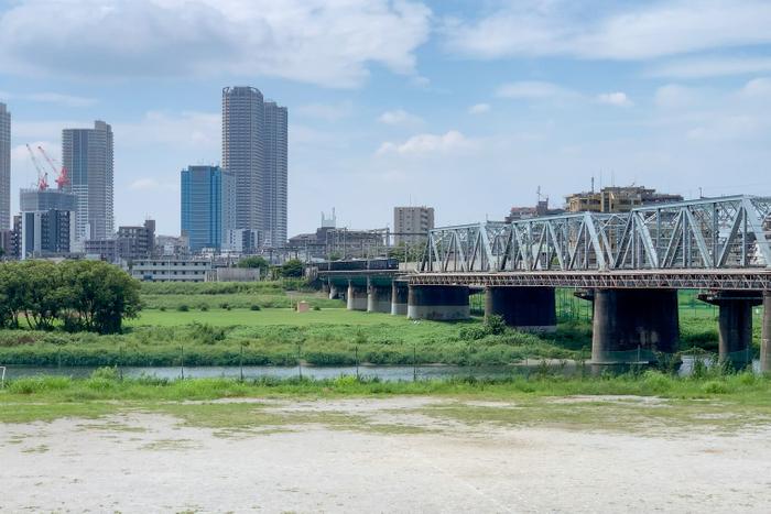多摩川を渡る「12000系」