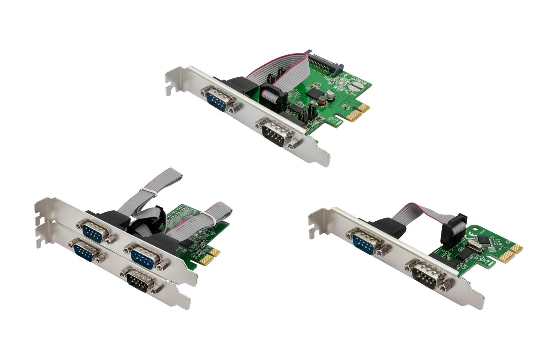 「OWL-PCEX2RS232X4」(下段左)、「OWL-PCEX2RS232X2」(上段)、「OWL-PCEX1RS232X2」(下段右)