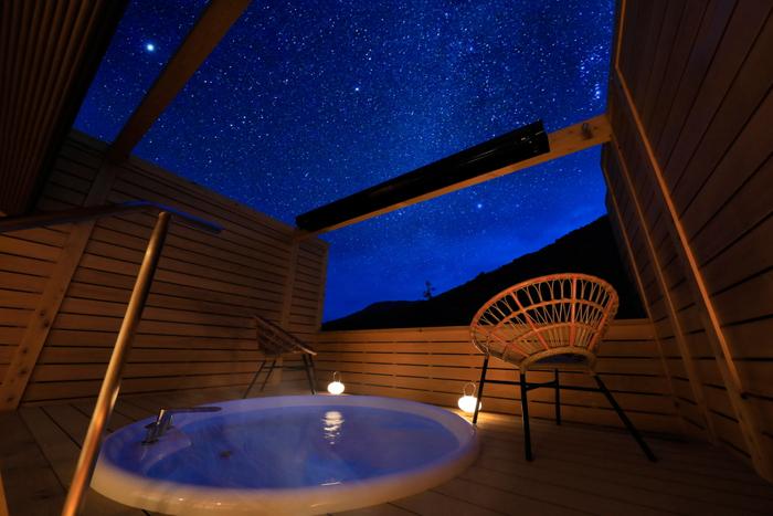 星空を眺める屋上貸切露天